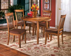 Rustic Brown Berringer Dining Room Table View 1