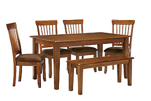 Berringer Dining Table and 4 Chairs and Bench, , large