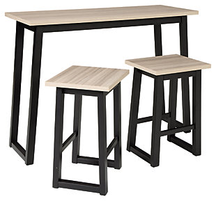 Waylowe Counter Height Dining Room Table and Bar Stools (Set of 3), , large