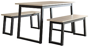 Waylowe Dining Table and Benches (Set of 3), , large