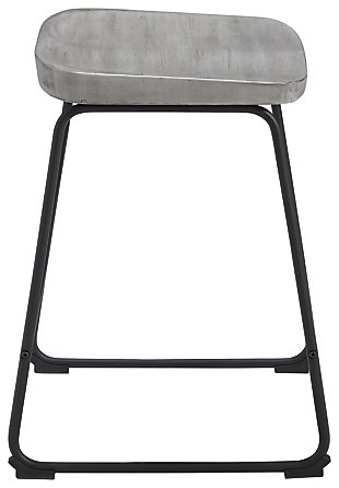 Showdell Counter Height Bar Stool, Gray/Black, large
