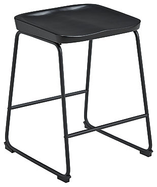 Showdell Counter Height Bar Stool, Black, large