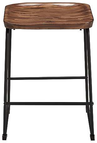 Showdell Counter Height Bar Stool, Brown/Black, large