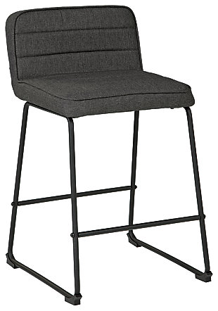 Nerison Counter Height Bar Stool, Gray, large