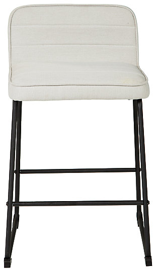 Nerison Counter Height Bar Stool, Beige, large