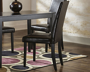 Kimonte Dining Room Chair, Dark Brown, rollover