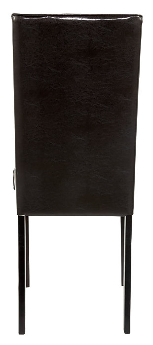 Kimonte Dining Room Chair, Dark Brown, large