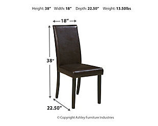 Kimonte Dining Chair, Dark Brown, large