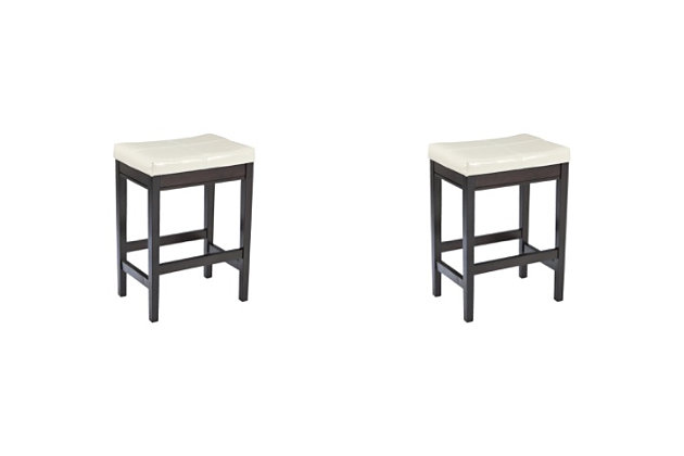 Kimonte Counter Height Bar Stool, Ivory, large