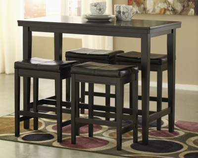 Ashley Kimonte Counter Height Dining Room Table, Dark Brown
