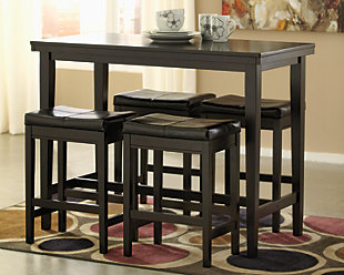 Kimonte Counter Height Dining Table and 4 Barstools, , large