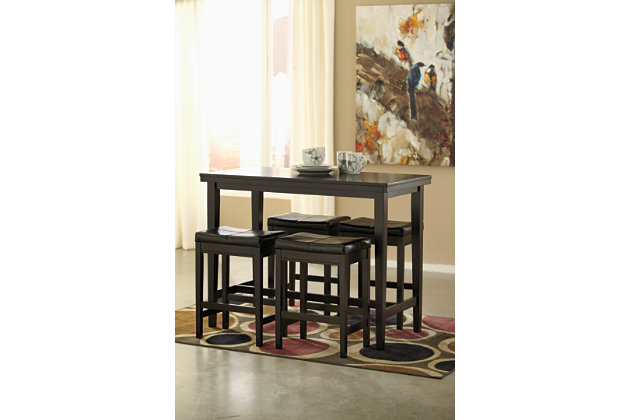Kimonte Counter Height Bar Stool, Dark Brown, large