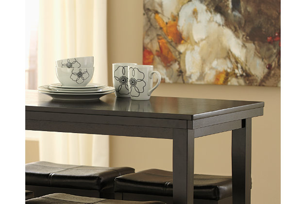 Dark Brown Kimonte Counter Height Dining Room Table View 4