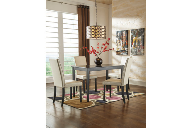 Kimonte 5-Piece Dining Room, Ivory, large