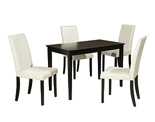 Kimonte Dining Table and 4 Chairs, Ivory, large