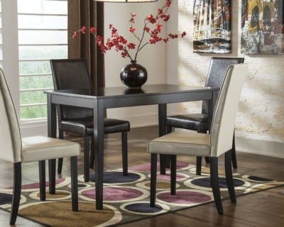 Ashley Kimonte Dining Room Table, Dark Brown