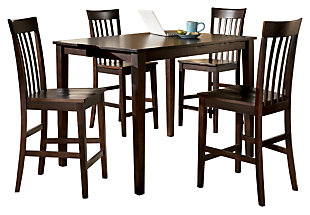 wood dining room sets. Hyland Counter Height Dining Room Table and Bar Stools  Set of 5 Sets Ashley Furniture HomeStore
