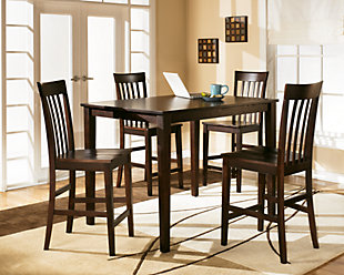 hyland counter height dining room table and bar stools set of 5 - Dining Room Furniture Chairs