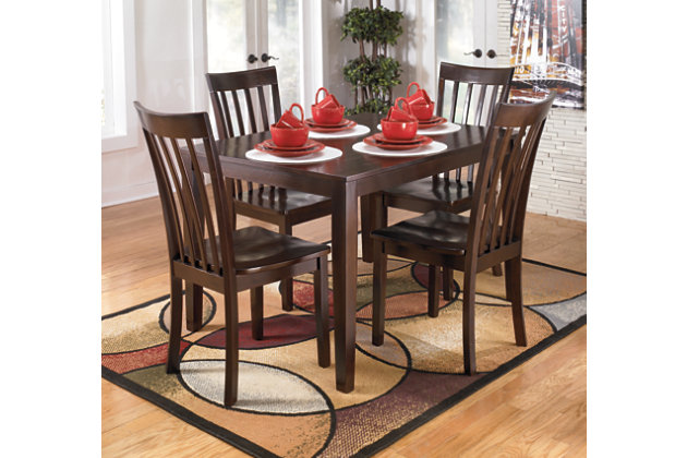 Hyland Dining Room Table and Chairs Set of 5 Ashley  : D258 225 DINNERWAREAFHS PDP Main from www.ashleyfurniturehomestore.com size 630 x 420 jpeg 60kB