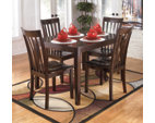 Reddish Brown Hyland Dining Room Table and Chairs (Set of 5) View 3
