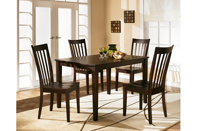 Hyland Dining Room Table and Chairs Set of 5 Ashley  : D258 225AFHS PDP Main from www.ashleyfurniturehomestore.com size 630 x 420 jpeg 64kB