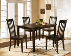 Reddish Brown Hyland Dining Room Table and Chairs (Set of 5) View 1