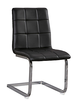 Madanere Dining Chair, Black/Chrome Finish, large