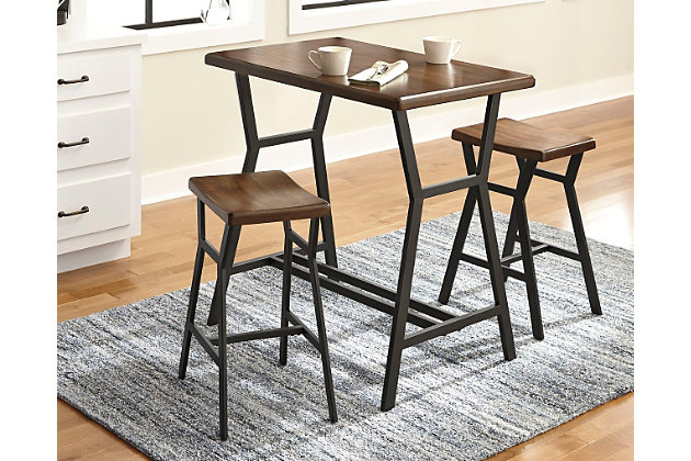 Select Danzing Counter Height Dining Room Table Barstools  Product Photo