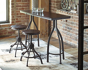 Odium Counter Height Dining Table and Bar Stools (Set of 3), , rollover