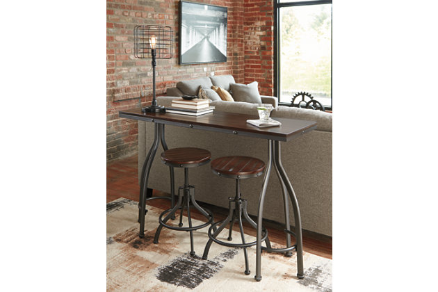 Odium Counter Height Dining Room Table and Bar Stools (Set of 3), , large