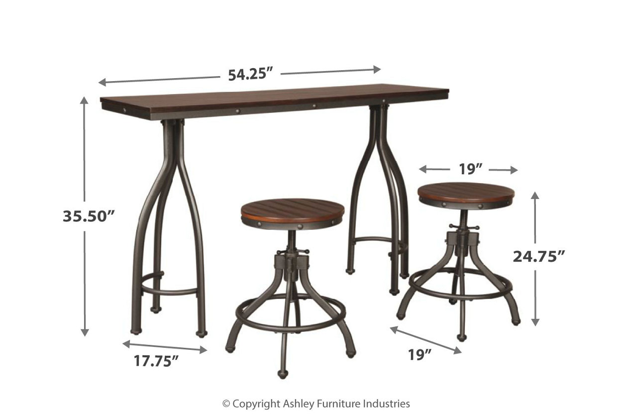 Brilliant Odium Counter Height Dining Room Table And Bar Stools Set Machost Co Dining Chair Design Ideas Machostcouk