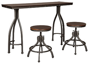 Odium Counter Height Dining Room Table And Bar Stools (Set Of 3), ...