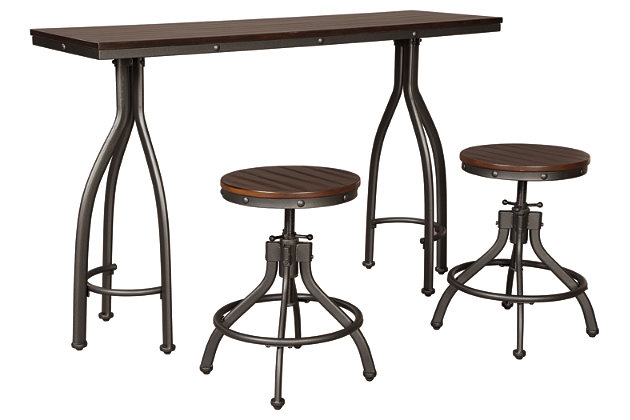 Marvelous Odium Counter Height Dining Room Table And Bar Stools Set Short Links Chair Design For Home Short Linksinfo