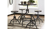 Odium Counter Height Dining Room Table and Bar Stools (Set of 5), , rollover