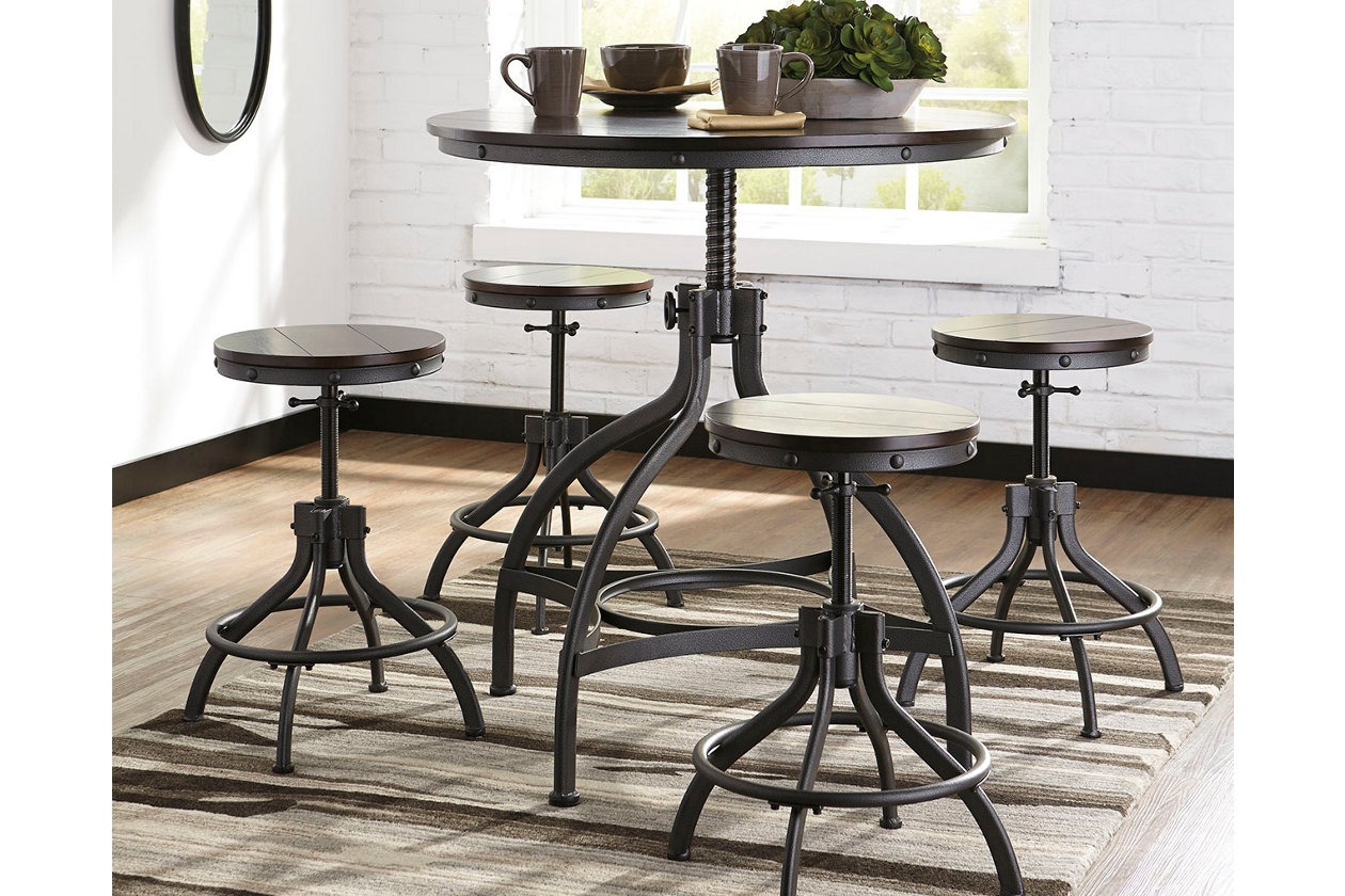brand new 8a099 48140 Odium Counter Height Dining Room Table and Bar Stools (Set ...