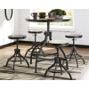 ashleyfurniturehomestore deals on Ashley Odium Counter Height Table and Bar Stools (Set of 5)