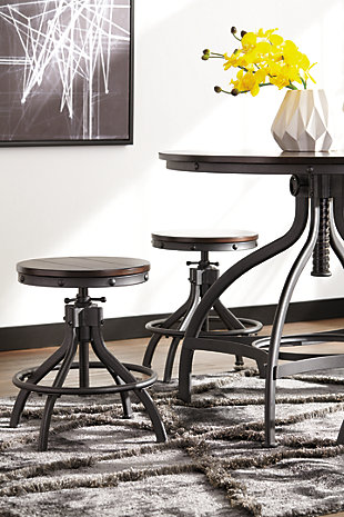 ... Odium Counter Height Dining Room Table and Bar Stools (Set of 5) ... : dining table stools set - pezcame.com