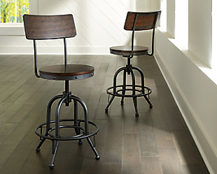 Odium Counter Height Bar Stool, Brown, rollover
