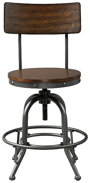 Odium Counter Height Bar Stool, Brown, large