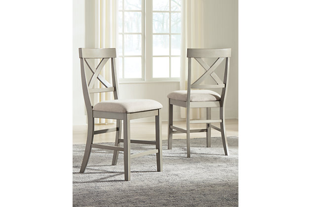 Parellen Counter Height Dining Table and 2 Barstools, , large