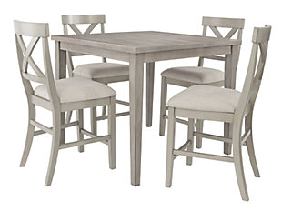 Parellen Counter Height Dining Table and 4 Barstools, , large