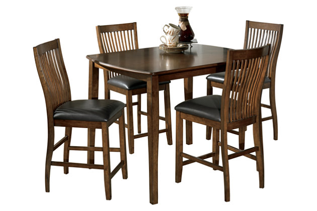 Stuman Counter Height Dining Room Table And Bar Stools Set Of 5