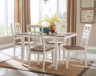 ... Large Brovada Dining Room Table And Chairs (Set Of 5), , Rollover