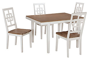 Brovada Dining Room Table And Chairs Set Of 5