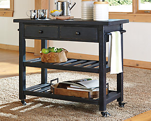 Marlijo Kitchen Cart, Black, rollover