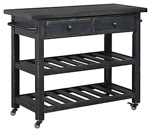Marlijo Kitchen Cart, Black, large