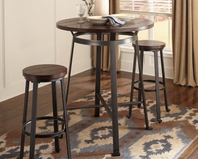 Trustworthy Room Bar Height Table Rustic Brown Dining Product Photo