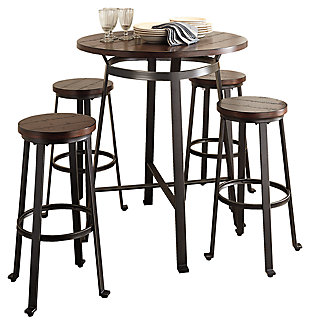 Challiman Dining Table and 4 Chairs, , large