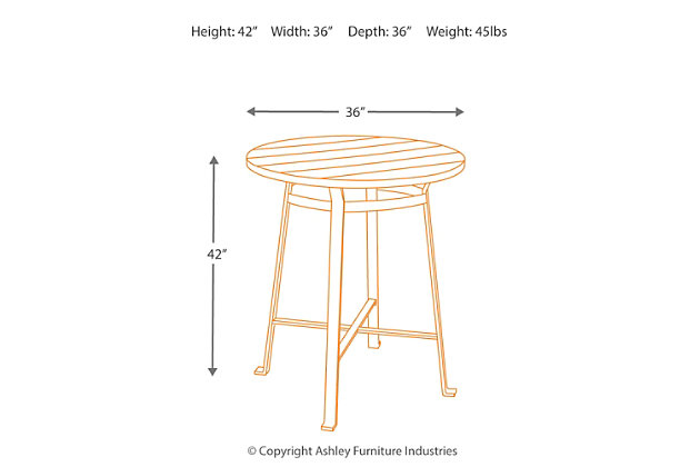 Challiman Dining Room Bar Height Table, , large
