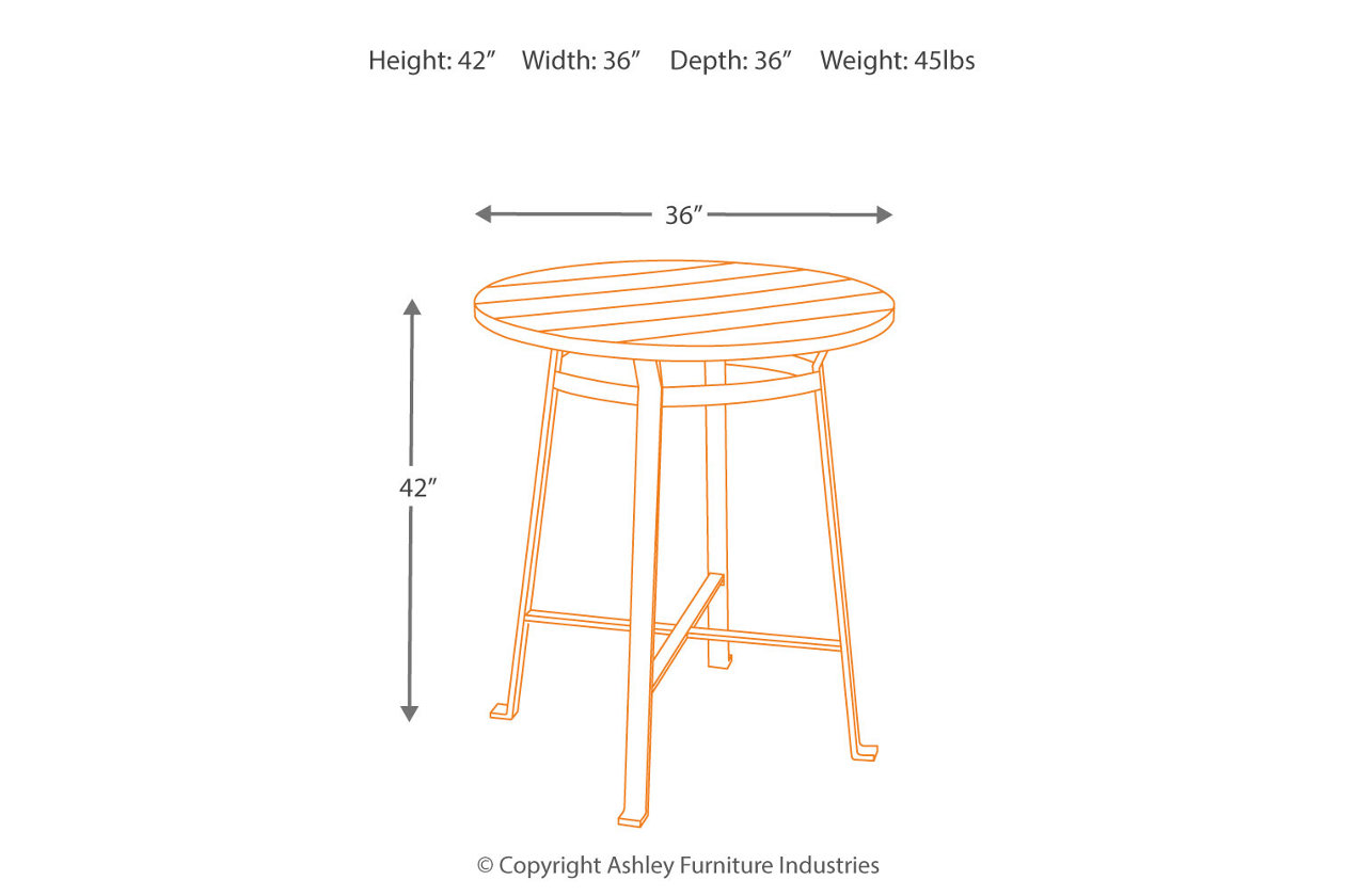 Challiman Dining Bar Height Table  Ashley Furniture HomeStore